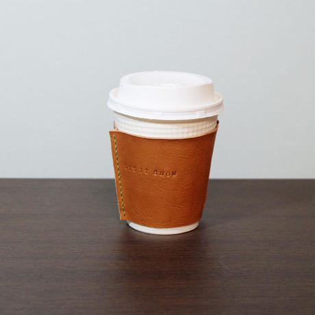 leather coffee cup sleeve【LET IT SNOW】