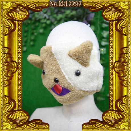 kki.2297 ぶちネコマスク。