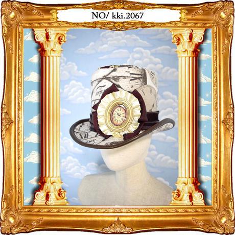kki.2067 時を刻むシルクHAT。<ブラウン>