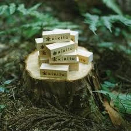 「普通に、木の文具」シリーズ ヒノキカードスタンド