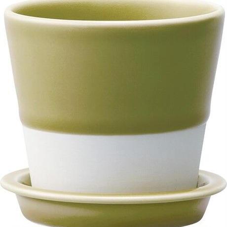 es table pot 織部釉