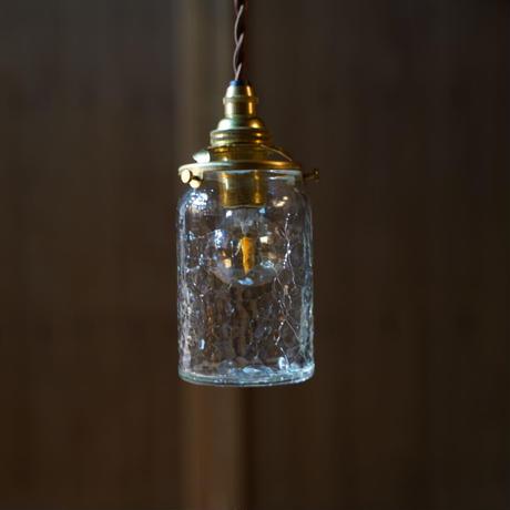筒瓶 安土草多 ガラスペンダントライト(クラック)
