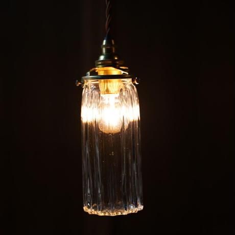 鳴門細筒瓶ロング 安土草多 ガラスペンダントライト  透明