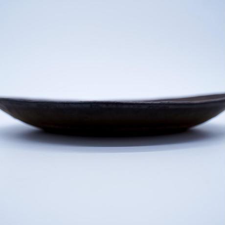 中川雅佳 金釉 楕円皿