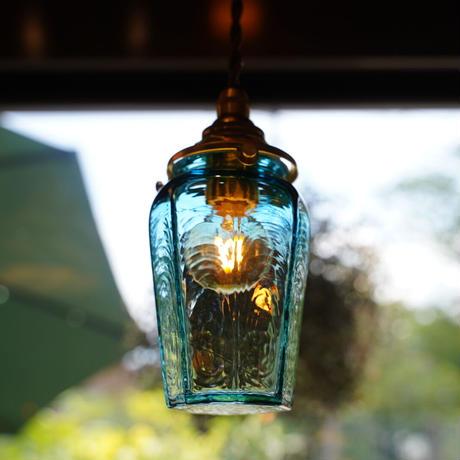 八角瓶 安土草多 ガラスペンダントライト(色ガラス)