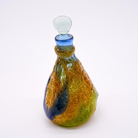 風遊の泡ガラス 岩流 デキャンタ(小瓶)