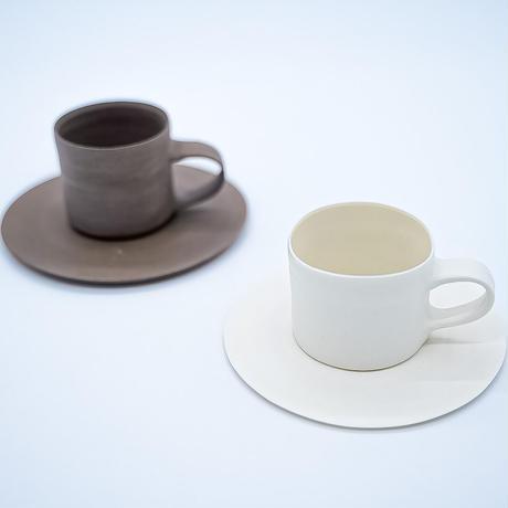 糸島志摩工房 デミタスカップ&ソーサー  ホワイト