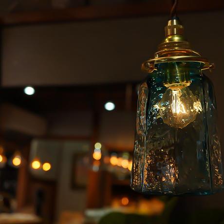 八角錐台瓶  安土草多 ガラスペンダントライト(色ガラス)