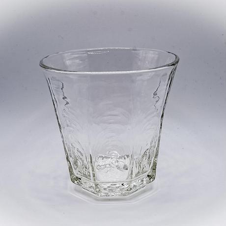 安土草多 高台付ロック八角グラス中