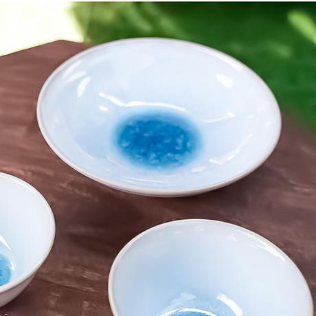 天龍窯ガラス釉 ソライロ中鉢(萩焼)