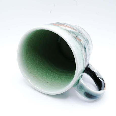 鶴琳窯 線刻 山路マグカップ