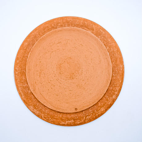糸島志摩工房 ディスク 皿 中(茶)