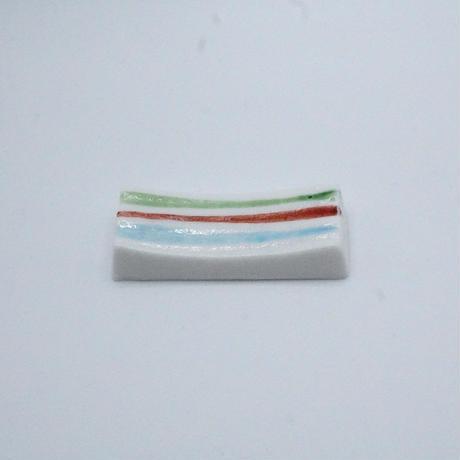 透ける陶器のお箸置き(ライン)