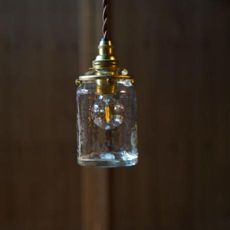 筒瓶 安土草多 ガラスペンダントライト(透明)