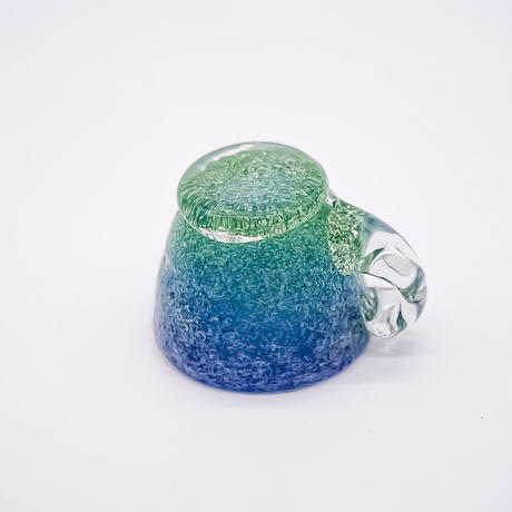 風遊の泡ガラス エスプレッソティーカップ&ソーサー(C)
