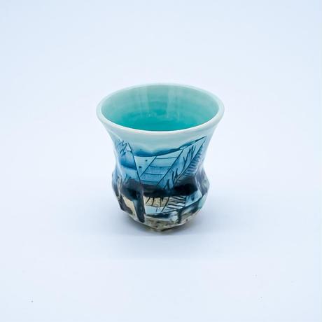 鶴琳窯 ぐい呑み(三つ足)