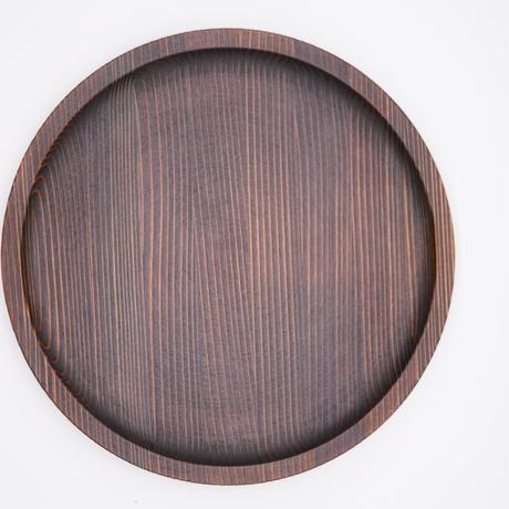 杉の木クラフト 丸盆(小)※お皿として使用可