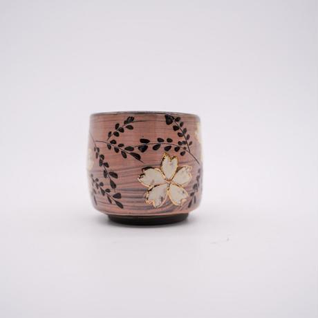 和紙焼 ぐい呑み 桜ピンク