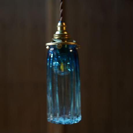 鳴門細筒瓶ロング 安土草多 ペンダントライト  色ガラス