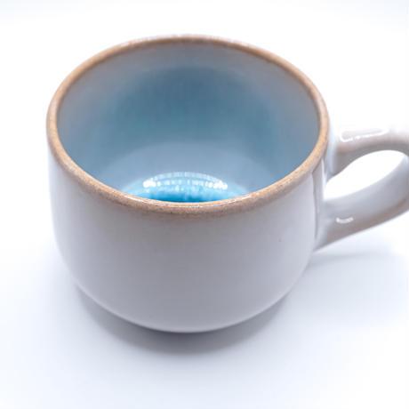 天龍窯ガラス釉 ソライロ珈琲カップ&ソーサー (萩焼)