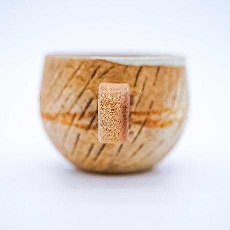 風唄窯 遺跡ポテカップ&ソーサー (直径9cm 高さ7cm)
