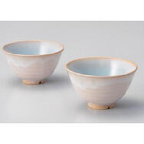 天龍窯ガラス釉 ソライロ夫婦茶碗 (萩焼)