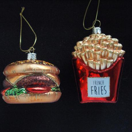 Ornament Hamburger/French Fries