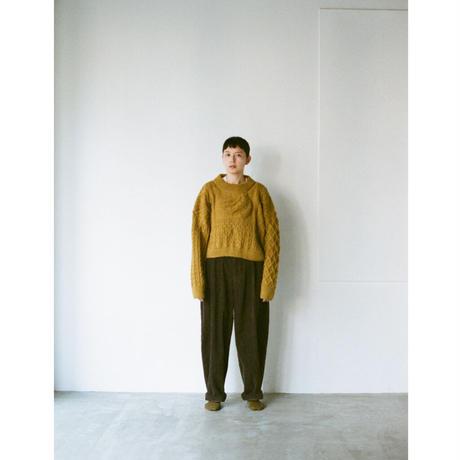 banana knit mustard ( F )