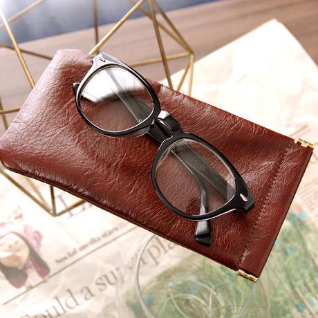 《Horse Leather》バネ口眼鏡ケース