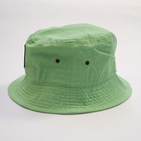NEW RUBBER BOX LOGO BUCKET HAT LIME GREEN