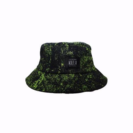 KILLA PAINTO BUCKET HAT BLACK×NEON GREEN