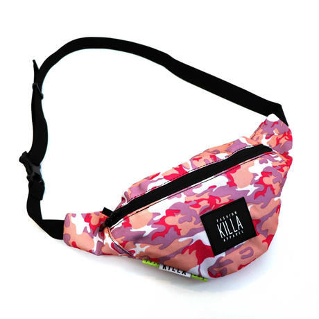 NEW RUBBER BOX LOGO WAIST BAG PINK CAMO