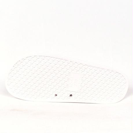 NEW ESSENTIAL LOGO SLIDER SANDALS WHITE