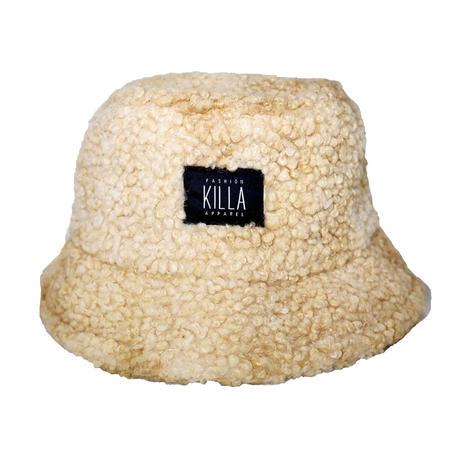 BOX LOGO BOA BUCKET HAT BEIGE×BROWN