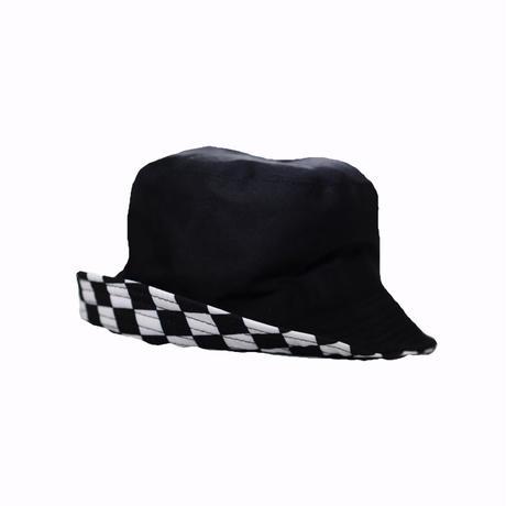KILLA CHECKERED FLAG REVERSIBLE BUCKET HAT