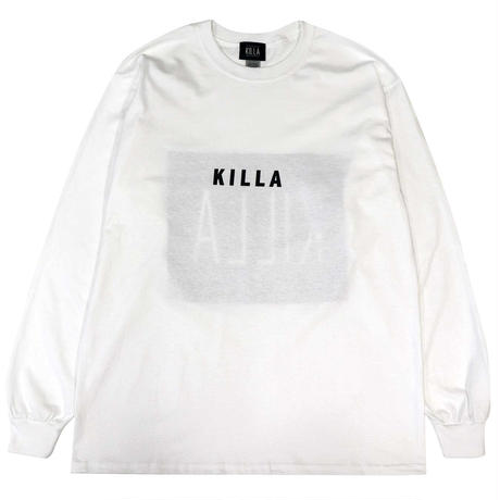 NEW ESSENTIAL BOX LOGO L/S TEE WHITE