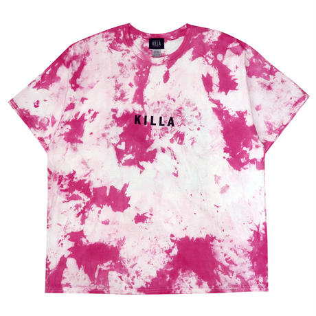 NEW ESSENTIAL BOX LOGO S/S TEE TIE DYE PINK