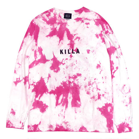 NEW ESSENTIAL BOX LOGO L/S TEE TIE DYE PINK
