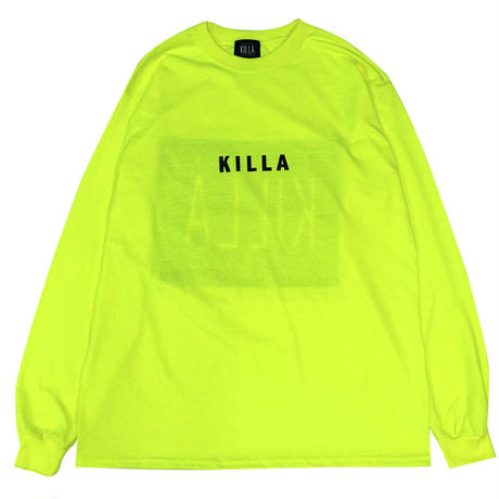 NEW ESSENTIAL BOX LOGO L/S TEE SAFETY GREEN