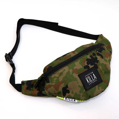 NEW RUBBER BOX LOGO WAIST BAG GREEN CAMO
