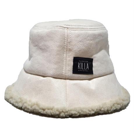 BOX LOGO BOA BUCKET HAT WHITECREAM