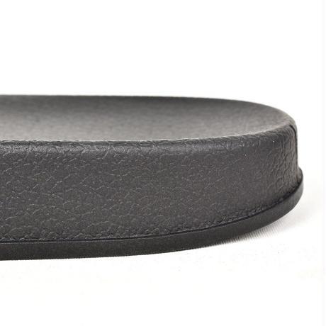 NEW ESSENTIAL LOGO SLIDER SANDALS BLACK