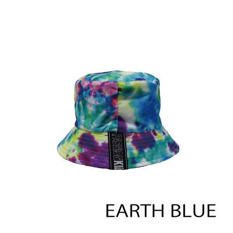 KILLA EARTH TIE-DYE REVERSIBLE BUCKET HAT
