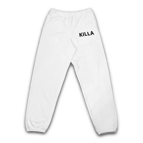 NEW ESSENTIAL BIG LOGO SWEAT PANTS WHITE