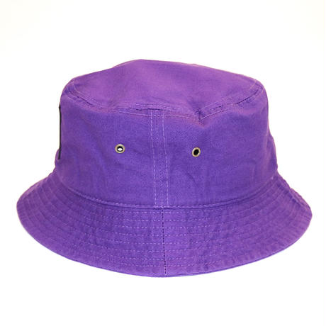 NEW RUBBER BOX LOGO BUCKET HAT PURPL E