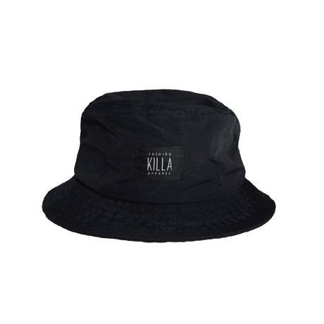 KILLA SHINING DAY NYLON BUCKT HAT BLACK