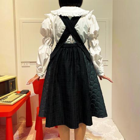 210114キルティングジャンパースカート(黒)