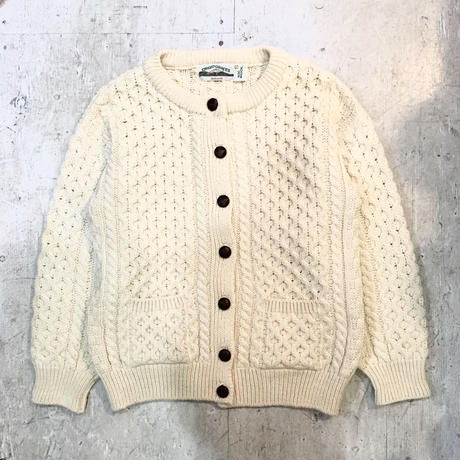 【aran crafts】 フィッシャーマンカーディガン