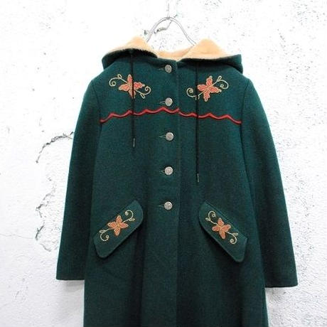 VINTAGE WOOL HOODED COAT