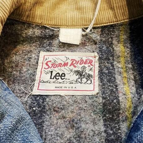 """70s~80s """"Lee"""" STORM RIDER リー デニムジャケット ジージャン コーデュロイ ヴィンテージ"""